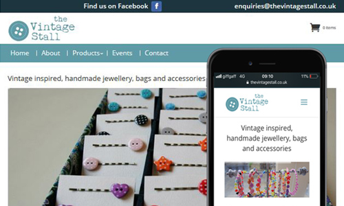 Website redesign for The Vintage Stall